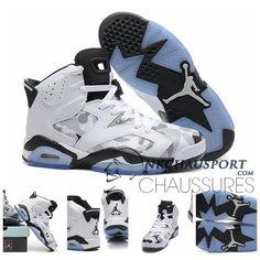 Nike Air Jordan 6 | Classique Chaussure De Basket Homme Blanche Grise-1