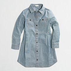 J.Crew Factory - Factory girls' chambray shirtdress