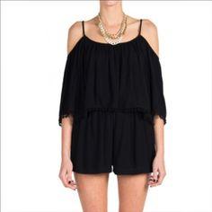 eedcd504c4 Lush Black Romper Lush Clothing, Black Romper, Vacation Outfits, Boho  Gypsy, Gypsy
