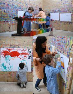 10 Inspiring Art Studios for Kids from Meri Cherry! #ECE #art
