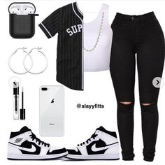 Outfits For School Black Girl Summer Outfits For School Black Girl Dope Outfits black girl outfits school Summer Cute Lazy Outfits, Baddie Outfits Casual, Swag Outfits For Girls, Teenage Girl Outfits, Cute Swag Outfits, Girls Fashion Clothes, Teen Fashion Outfits, Retro Outfits, Stylish Outfits