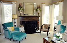 I love love turquoise accents!