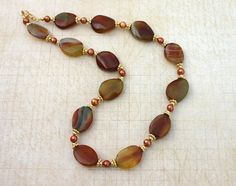 Autumn breeze necklace agate necklace by JewelryByLoriStave