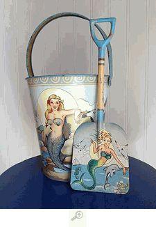 Mermaid Sandpail & Shovel Set
