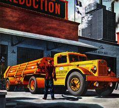 Plan59 :: Classic Truck Art :: 1945 Autocar