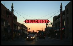 Hillcrest sign near my home in San Diego.