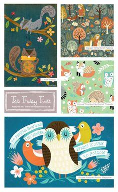 Fab Friday Finds week 5 - Woodland - on www.rebeccastoner.co.uk