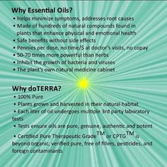 So many reasons to use doTERRA essential oils! www.onedoterracommunity.com https://www.facebook.com/#!/OneDoterraCommunity