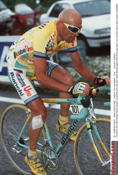 Marco Pantani in action during the 1998 Giro d'Italia, which he would win overall