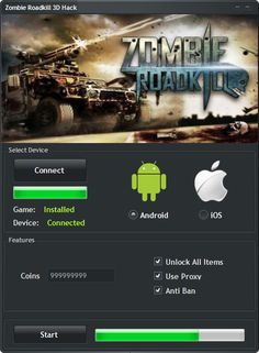 Zombie Roadkill 3D Hack Tool (Android/iOS)   Zombie Roadkill 3D Hack Tool(Android/iOS)  We want to present you an amazing tool calledZombie Roadkill 3D Hack Tool.With ourZombie Roadkill 3D Traineryou canget unlimited CoinsandUnlock All Items.Our soft works on allAndroidand iOS devices. It does not require any jailbreak or root. OurZombie Roadkill 3D Cheatis very easy to use. Just Connect your device select the device check the options you want to add click on the buttonStartand youre…