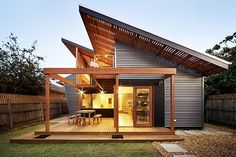 The clients who asked Penny Guild of Zen Architects to extend their ''hybrid Edwardian-California'' Brunswick bungalow stated upfront that they didn't want ''a brilliant addition bolted onto the back