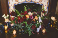 Oxblood + Cobalt wedding inspiration of reds and blues. Cobalt Wedding, Jewel Tone Wedding, Red Wedding, Floral Wedding, Wedding Flowers, Perfect Wedding, Wedding Trends, Wedding Designs, Wedding Styles