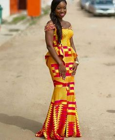 Hey Guys, We have selected some of the finest Kente styles that can fit your personality. Every one of us is a boss chic depending how we look at what we do. Kente fabrics are not new local fabric… African Wedding Dress, African Print Dresses, African Print Fashion, Africa Fashion, African Fashion Dresses, African Dress, African Prints, Men's Fashion, African Attire