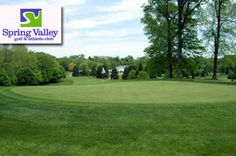 $12 for 18 Holes with Cart at Spring Valley #Golf and Athletic Club in Elyria near Cleveland, #Ohio.