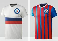 Minimalist Design - Brazilian teams Soccer Jerseys by Ricardo Carvalho, via Behance
