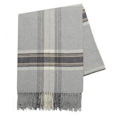 $100 plaid throw blanket grey