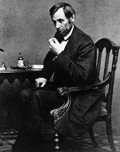 Abraham Lincoln photographed by Mathew Brady in 1861