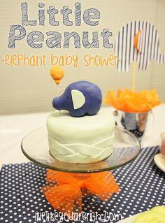 Cutest baby shower idea from LiveLikeYouAreRich.com: Little Peanut Elephant Baby Shower!