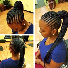 Nice simple straight back pony via @marlyshairbraiding - https://blackhairinformation.com/hairstyle-gallery/nice-simple-straight-back-pony-via-marlyshairbraiding/