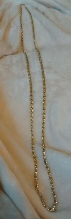 "Vintage gold chain necklace 24"" long #90 #Chain"