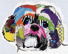 Sih tzu dog painting