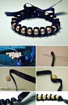 """I love this for the """"grandgirls"""" as they become teens.  Make it in a color to match their favorite outfit - can use beads instead of pearls."""