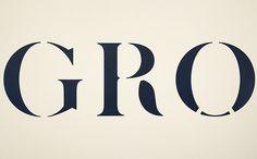 Common Ground exhibition stencil typeface