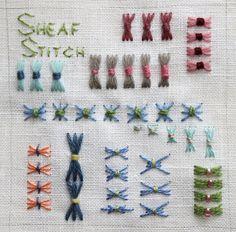 Sheaf Stitch Sampler by flossbox, via Flickr