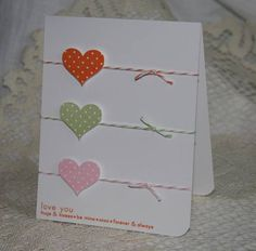 clean and simple valentine's day card