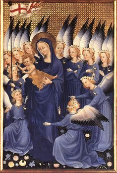 Virgin Mary, Right side of the Wilton Diptrych  1395--1399