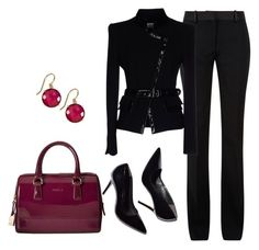 """""""Meetings:  Board Meetings today"""" by bsimon-1 ❤ liked on Polyvore featuring Victoria Beckham, Gai Mattiolo, Furla and Suzanne Kalan"""