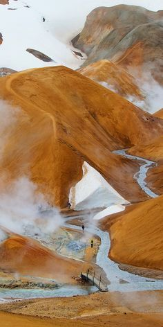Kerlingafjoll hot spring, Iceland