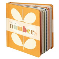Orla Kiely Designer Board books - numbers - for babies. #kids #books #illustration via SmallforBig.com