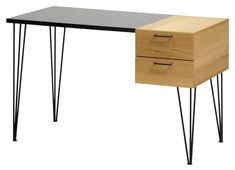 SLATER Pult Home Office, Office Desk, Structure Metal, Nightstand, Furniture, Home Decor, Robin, Gray, Writing Desk