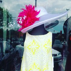 My hats were in Norton Commons for only one night.  Contact me for #derbyhats #derbyfashion #oneofakindfascinator #oneofakindderbyhat #fascinators #largederbyhats #largebrimmedhat #largefascinator #largehatwithfeathers #hatstogetmenoticedatkentuckyderby #tnsteeplechasehats #royalascothat #royalascotfascinator #belmonthats #preaknesshats #tnsteeplechase #belmontstakes #preaknessstakes #royalascot #racingfashion