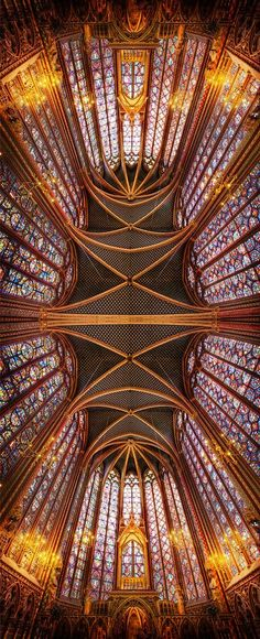 The Crystal Forever in Sainte Chapelle, France.