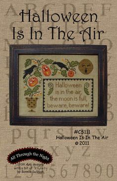 Halloween is in the Air - Cross Stitch Pattern by All Through The Night