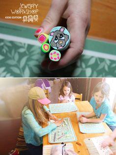 Jewelry Workshop – Kids edition! | VeruDesigns, LLC Workshop, Frame, Fun, Kids, Jewelry, Decor, Fin Fun, Children, Jewellery Making