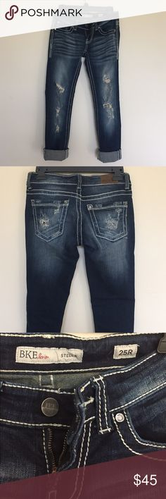 Buckle BKE Jeans Size 25 Stella jeans from Buckle!! Straight leg :) I really really like these jeans, just too tight on me now! They are in GREAT condition! Honestly probably only worn three times that's why I priced them on the higher end- originally $76! #buckle #jeans #stella #25 #thebuckle #bke #straightleg BKE Jeans Straight Leg