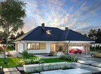 Locuință de vis cu un singur nivel, piscină și garaj pentru două mașini!   stiri.MagazinulDeCase.ro House Plans, Mansions, House Styles, Outdoor Decor, Home Decor, Places, Projects, Decoration Home, Room Decor