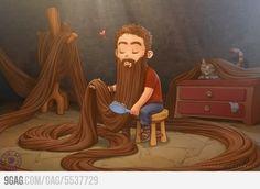 If Rapunzel were a man