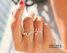 Amor declaración anillo  amor  anillo Cocktail  por TinyBox12, $12.95