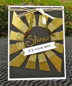 Krystal's Cards: Stampin' Up! Sunburst Sayings Shine