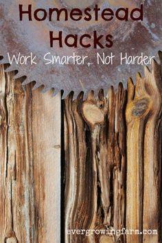 Homestead Hacks - Work Smarter Not Harder