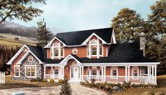 Farmhouse  House Plan 87309 Perfect!!! The only change would be exterior colors!