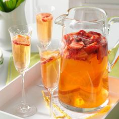 Spring Strawberry Sangria Recipe -Wine infused berries make a lovely addition to this special-occasion drink. I love serving this during the beginning of Spring to celebrate the new season. Strawberry Basil Sangria, Peach Sangria, Strawberry Recipes, Strawberry Pie, Sangria Recipes, Cocktail Recipes, Punch Recipes, Drink Recipes, Margarita Recipes