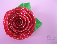Clare's creations: Spiral Washi Tape Flower Tutorial (lots of photos)