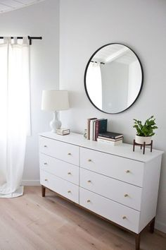 Perfect How to create a mid century modern dresser from an affordable Ikea piece – the best Ikea hacks! The post How to create a mid century modern dresser from an affordable Ikea piece – the b… appeared first on Decor Designs . Mid Century Modern Dresser, Mid Century Modern Decor, Midcentury Modern, Rustic Modern, Modern Drawers, Rustic Style, Ikea Dresser Hack, Dresser Ideas, Dresser Inspiration