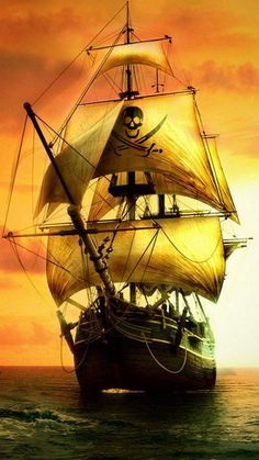 Sailing ships, under-sea wrecks and mystical beauties, carefully mixed with sea-worthy tunes from Grand Funk Railroad and Donovan! Pirate Boats, Pirate Art, Pirate Ships, Segel Tattoo, Arte Assassins Creed, Grand Funk Railroad, Old Sailing Ships, Ship Drawing, Ghost Ship