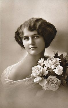 Beautiful young woman vintage-photographs